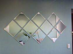 Espelho decorativo BISOTÊ kit 10pçs