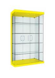 Cristaleira em vidro Lacca Amarela 02 portas