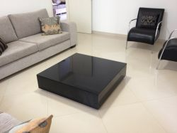 Mesa de centro Black Reflect vidro