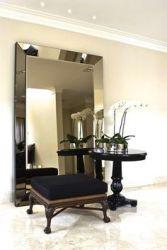 Espelho de chão GIGANTE moldura espelhada chanfrada BRONZE