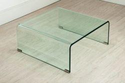Mesa em vidro curvo GLASS